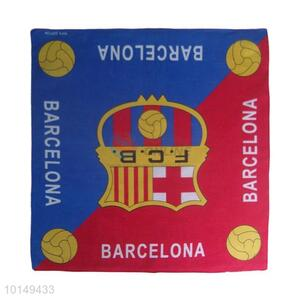 Cheap Blue/Red Cotton Handkerchief with F.C.B Logo Design