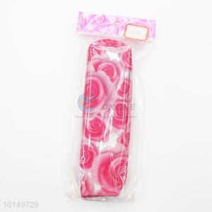 Exquisite rose flower printed pencil pouch