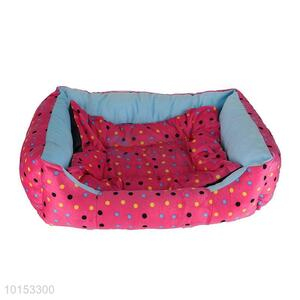 Pink dot pattern plush pet dog/pet kennel