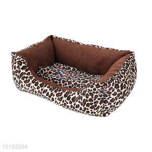 New design leopard pattern plush pet dog/pet kennel
