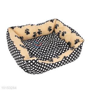 Black dot pattern pet kennel/soft dog house