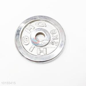 Silver Color Stainless Steel Dumbbell Plate