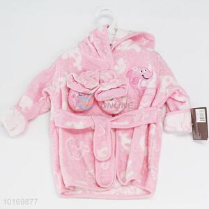 Good quality hot selling children bathrobe&shoes
