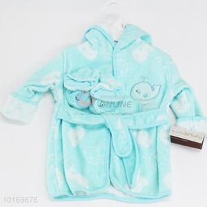 Top sale low price children bathrobe&shoes
