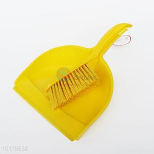 Wholesale Yellow Plastic Household Mini Brush And Dustpan Set