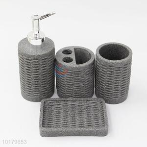 New Design Plastic Bathroom Sets 4Pcs Bathware