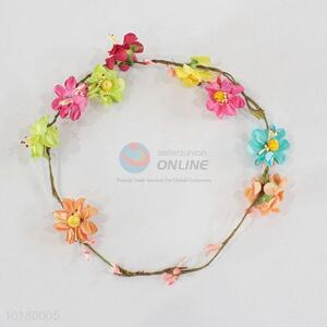 High quality colorful flower garland/flower lei