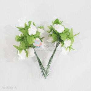 Wholesale white artificial foam rose flower