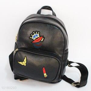 Delicate designed pu backpack with patch
