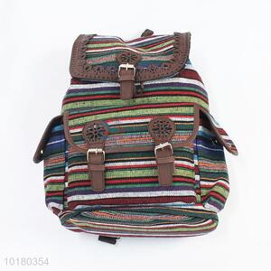Latest Design National Style Durable Canvas Student Backpack