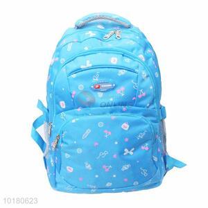 Delicate design printed terylene backpack for women