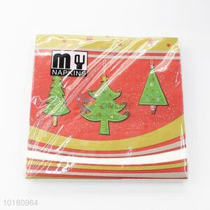 Normal low price christmas tree napkin