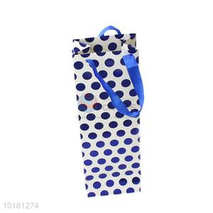 Fashion style low price wine bag with round dots