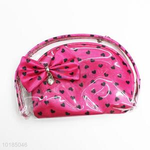 Whoelsale cheap heart printed <em>cosmetic</em> case makeup case