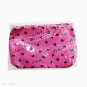 Nice design heart printed <em>cosmetic</em> case makeup case