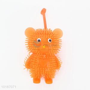 Orange Squeezing Toys Animal Puffer Ball