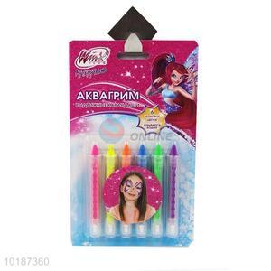 Wholesale Cheap 6 Colors Highlighter Crayon