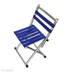 Factory Direct Blue Band Outdoor Stool Folded Chairs With Lazyback