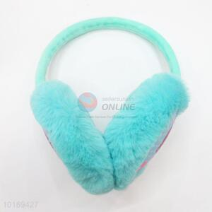 Popular Design  Green Color Lovely Girl Pattern Winter Earmuffs