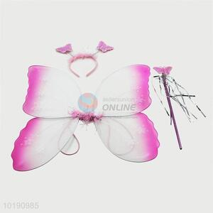 Cheap Price Wholesale 3PCS Fairy Wings Girls Butterfly Party Wings