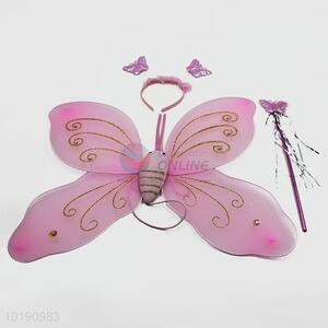 Wholesale Cheap Party Costume 3PCS Pink Butterfly Wings for Kid Party Decoration