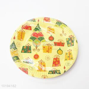 Christmas Pattern Disposable Paper Dishes for Party