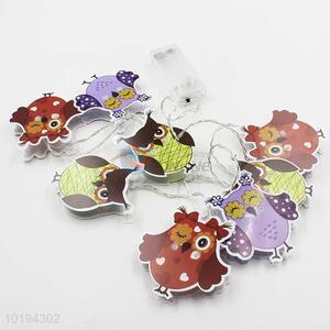 Battery Operated Cartoon Owl String Lights for Party/Holiday Decoration