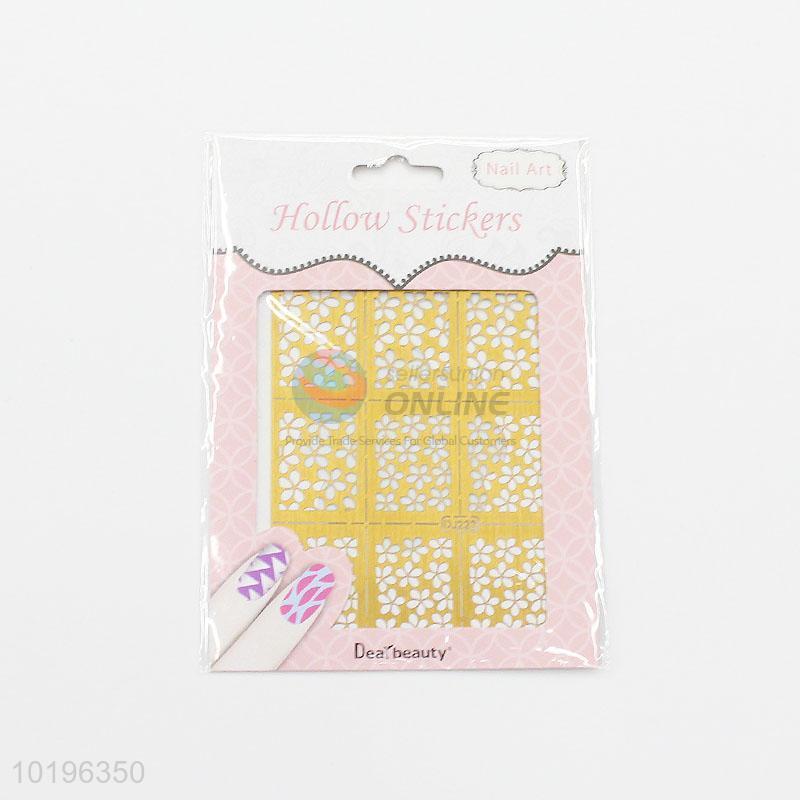 Popular Hollow Out Nail Sticker 3d Nail Art Decoration Nail Stamping