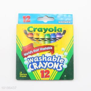 12 Colors Non Toxic Washable Crayons