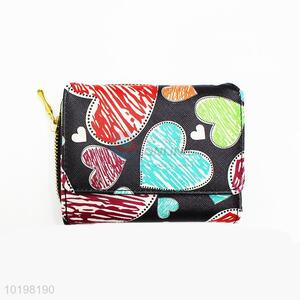 Nice Heart Pattern PU Purse/Wallet for Daily Use
