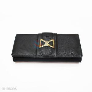 Serviceable Black Rectangular Purse/Wallet for Daily Use
