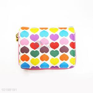 Factory Direct Heart Printed PU Purse/Wallet for Daily Use