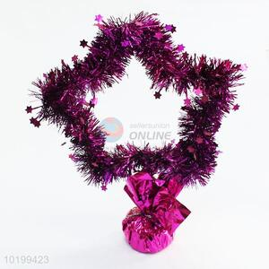 Popular Five-pointed Shape Christmas Table Centerpiece Decoration