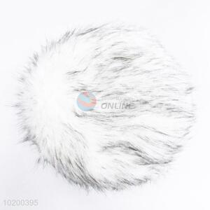 New arrival 3-foot round fake fur stool