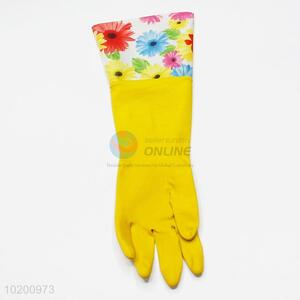Cheap new style high sales yellow cleaning gloves