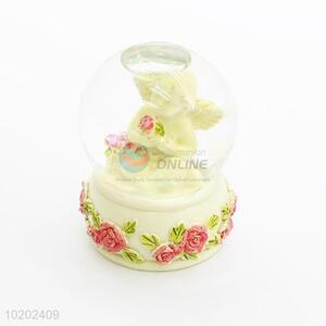 Fancy bottom price angel resin crystal ball