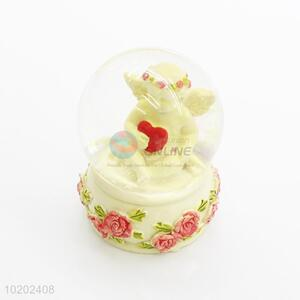 Popular design low price angel resin crystal ball