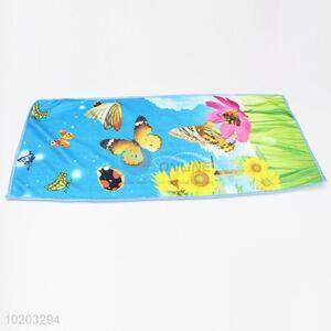 Blue butterfly microfiber cleaning towel