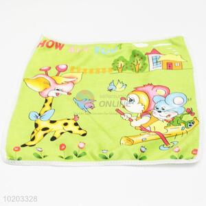 Green giraffe kids small hand towel,microfiber cleaning towel