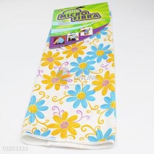 New design flower printed microfiber towel