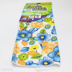 Wholesale custom flower printed microfiber towel