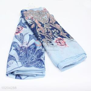High Quality Blue Color Soft Infinity Viole Scarf