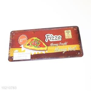 Decorative pizza iron sign/door plate