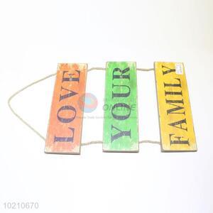 Hot sale colorful hang wood doorplate