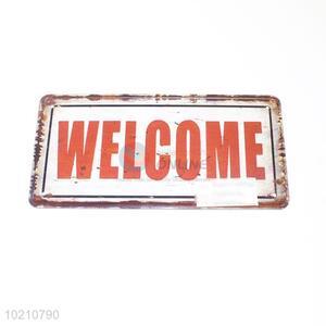 Hot sale iron welcome sign/door plate
