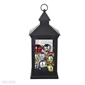 Black LED Candle Lantern/Storm Lantern with Colorful Ball for Festival/Party