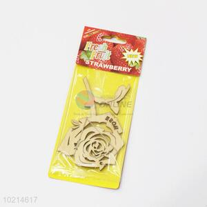 Hot-selling low price rose shape wooden car air freshener