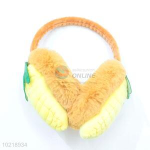 Yellow Corn Design Lovely Girl Velvet Winter Warm Earmuff