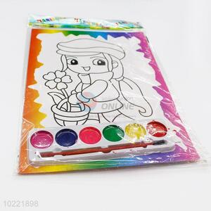 Wholesale new design girl shape drawing paper for children