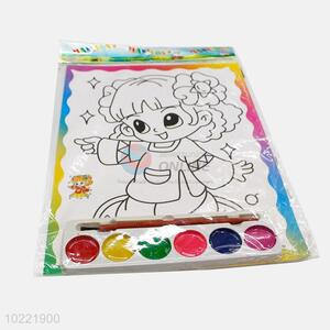 Top quality girl shape drawing paper for children